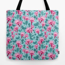 Pink & Teal Lovely Floral Tote Bag