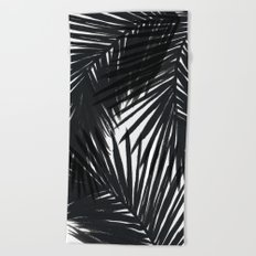 Palms Black Beach Towel