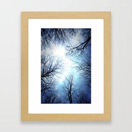 Black Trees Blue sky Framed Art Print
