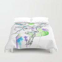 stag Duvet Covers featuring Stag by Little Lost Forest