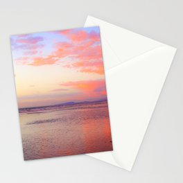 Looking Northwest on the Beach at Sunset by Reay of Light Stationery Cards