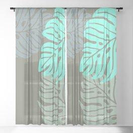 Hawaiian leaves pattern N0 2, Art Print collection, illustration original pop art graphic print Sheer Curtain