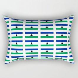 flag of lesotho -maseru,basotho,mosotho,sotho,caledon,sesotho,mokorotlo Rectangular Pillow