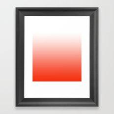 Festive Red Gradient Framed Art Print