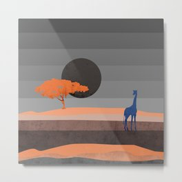 Giraffe , you are not alone Metal Print