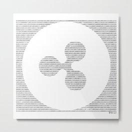Binary XRP Metal Print