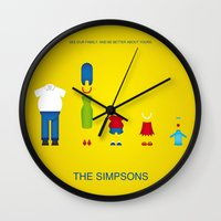 simpsons Wall Clocks featuring Simpsons by Jana Costa