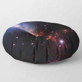 Cosmic Stellar Sparklers Space Galaxy Floor Pillow