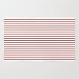 Vintage New England Shaker Barn Red Milk Paint Mattress Ticking Horizontal Narrow Striped Rug