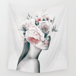 WOMAN WITH FLOWERS 11 Wall Tapestry