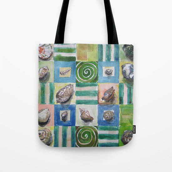Shell and stripes Tote Bag