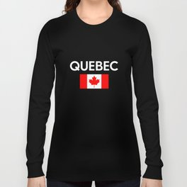 Quebec Canada Flag Proud Eastern Canadian Province Long Sleeve T-shirt
