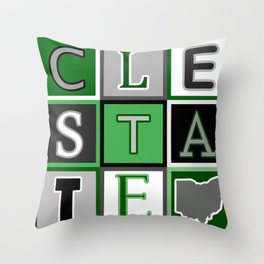 Cleveland State Throw Pillow