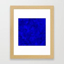 Cobalt Marble Pattern Framed Art Print
