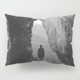 Through the Looking Glass - Holga Black and White Photograph in the Pacific Northwest Pillow Sham