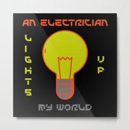 Light Bulb Electrician Watt Light Metal Print