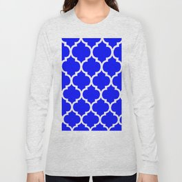 MOROCCAN COBALT BLUE AND WHITE PATTERN Long Sleeve T-shirt