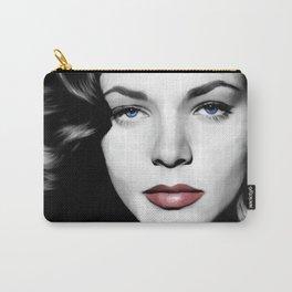 Lauren Bacall Portrait Carry-All Pouch