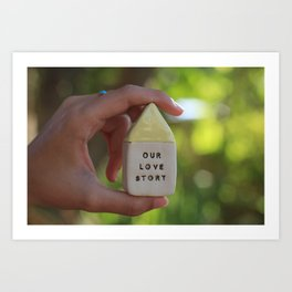 Our Love Story House Art Print