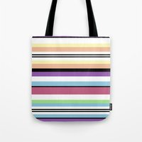 striped Tote Bags featuring Striped by Katy Martin