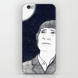 Man and Moon iPhone Skin