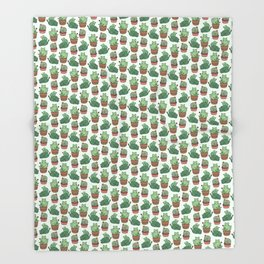 Cacti Cat pattern Throw Blanket