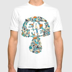 EAT ME White MEDIUM Mens Fitted Tee