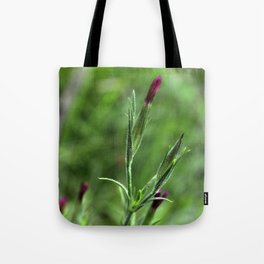 Pink Lipstick Flower Buds Tote Bag