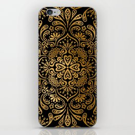 Sophisticated Black and Gold Art Deco Pattern iPhone Skin