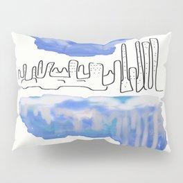 Cityscape Blue Pillow Sham
