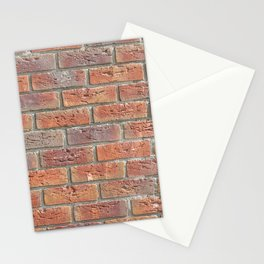 Brick wall texture photo Stationery Cards