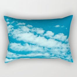 Beautiful blue sky and fluffy clouds Rectangular Pillow