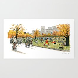 NANA in Central Park Art Print