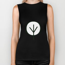 Drawn Tree in Black Biker Tank