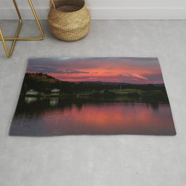 Red Feather Sunrise Rug