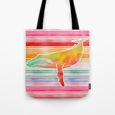 Whale Collage by Garima and Jacqueline Tote Bag