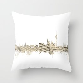 Berlin Germany Skyline Sheet Music Cityscape Throw Pillow