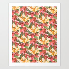 Mixed Paradise Tropicals in Vintage Art Print