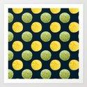Watercolor Lemon Lime Pattern by skinnyginny