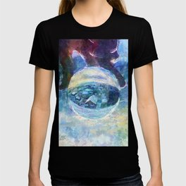 Snowy Town of Burlington, VT in a Globe - Impressionist Painting T-shirt