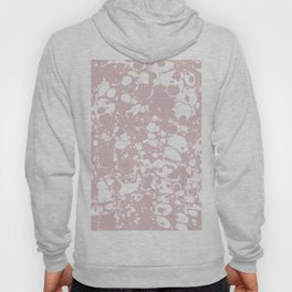 Blush Pink White Spilled Paint Mess Hoody