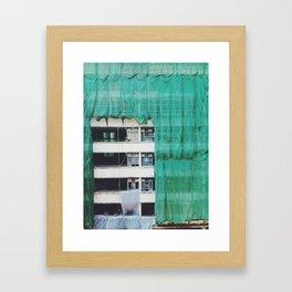 Bamboo Scaffolding Hong Kong Framed Art Print