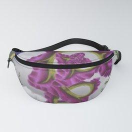Purple Poppy Flower Fanny Pack