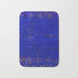 V11 Calm Blue Printed of Original Traditional Moroccan Carpet Bath Mat