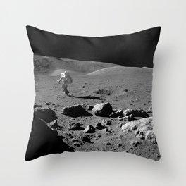 Apollo 17 - Astronaut Running Throw Pillow