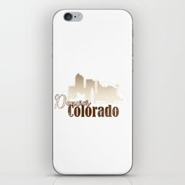 Denver Colorado Grunge Skyline iPhone Skin