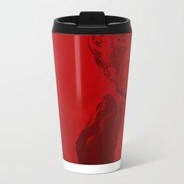 Red Lady  Metal Travel Mug