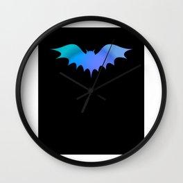 Halloween bat silhouette bats halloweenghost Wall Clock
