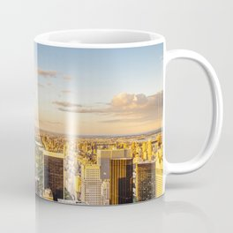 Central park at sunset - aerial view Coffee Mug