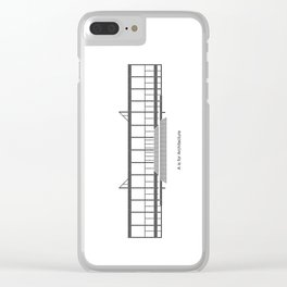 Mies - A is for Architecture Clear iPhone Case